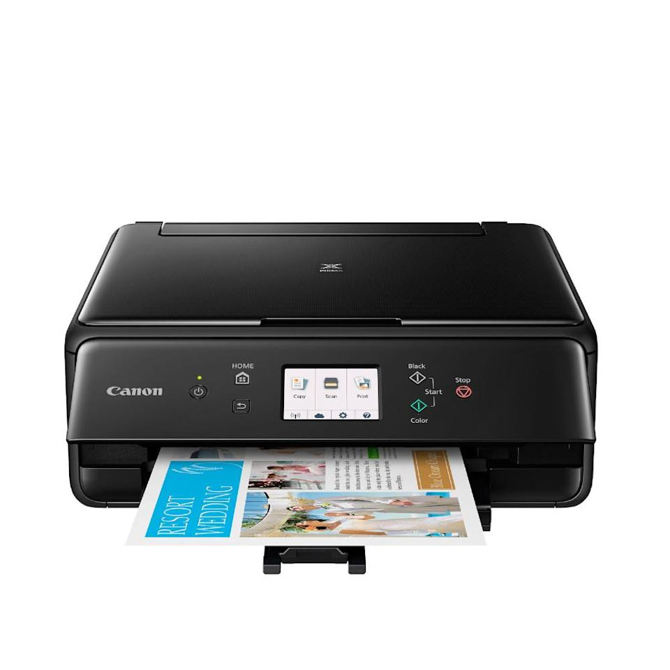 Canon PIXMA TS6120 wireless printer, copier scanner with 100-pack paper. (Photo: QVC)