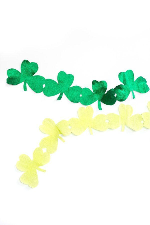"""<p>Get the party started with these festive streamers that you can DIY almost as quickly as you can buy. </p><p><strong>Get the tutorial at <a href=""""https://studiodiy.com/diy-giant-shamrock-streamers/"""" rel=""""nofollow noopener"""" target=""""_blank"""" data-ylk=""""slk:Studio DIY"""" class=""""link rapid-noclick-resp"""">Studio DIY</a>.</strong></p><p><a class=""""link rapid-noclick-resp"""" href=""""https://go.redirectingat.com?id=74968X1596630&url=https%3A%2F%2Fwww.walmart.com%2Fsearch%2F%3Fquery%3Dcrepe%2Bpaper%2Brolls&sref=https%3A%2F%2Fwww.thepioneerwoman.com%2Fhome-lifestyle%2Fcrafts-diy%2Fg34931626%2Fst-patricks-day-decorations%2F"""" rel=""""nofollow noopener"""" target=""""_blank"""" data-ylk=""""slk:SHOP CREPE PAPER ROLLS"""">SHOP CREPE PAPER ROLLS</a><br></p>"""