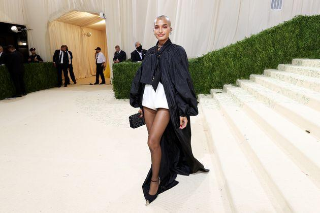 Indya Moore inSaint Laurent at the2021 Met Gala. (Photo: Cindy Ord/MG21 via Getty Images)