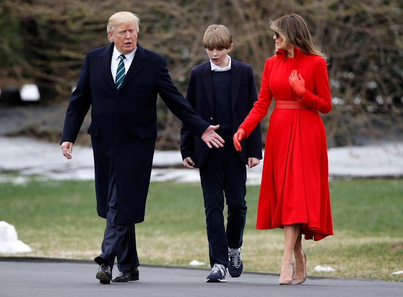 Barron Trump Makes Rare Appearance At White House