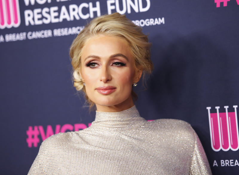 Paris Hilton lead an Oct. 9 protest demanding the closure of Provo Canyon School in Springville, Utah, where she claims she was abused as a student. (Photo: Tibrina Hobson/WireImage)