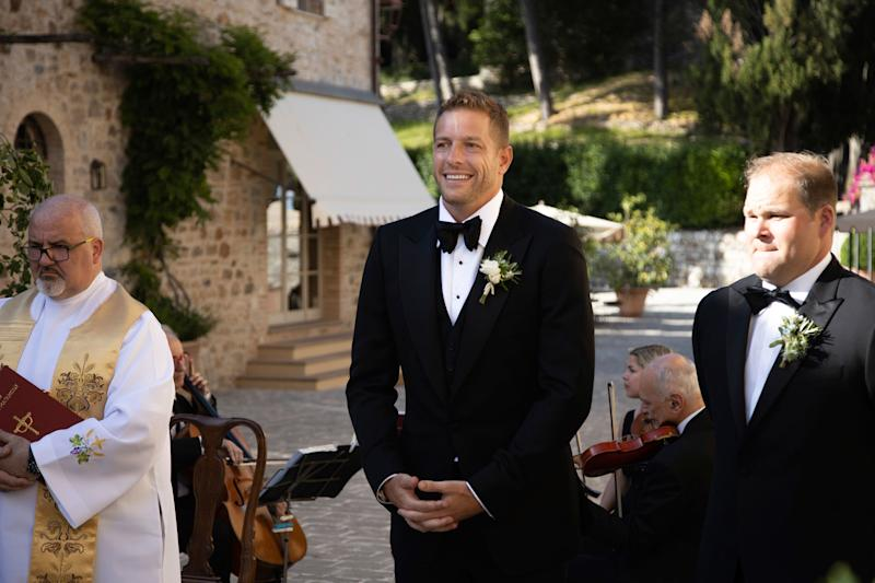 David seeing his bride for the first time.