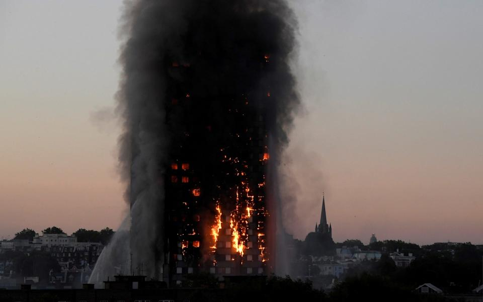 Grenfell Tower was destroyed by a fire, killing 72 people, in June 2017 - Reuters