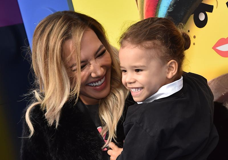 Naya Rivera and her son Josey Hollis Dorsey at the premiere of The Lego Movie 2: The Second Part, February 2019: AFP via Getty Images