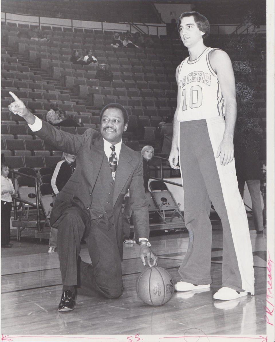 Jerry Harkness recalled his record-long 92-foot, game-winning basket with Pacers guards Joe Hassett.