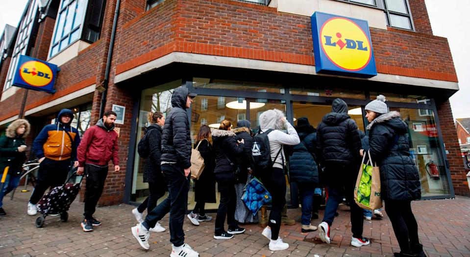 Lidl is to install protective screens at the checkouts of its stores (Getty Images)