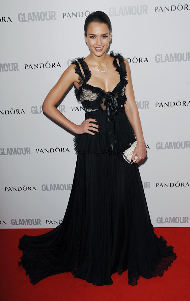LONDON, UNITED KINGDOM - MAY 29: Jessica Alba attends Glamour Women of the Year Awards 2012 at Berkeley Square Gardens on May 29, 2012 in London, England. (Photo by Stuart Wilson/Getty Images)