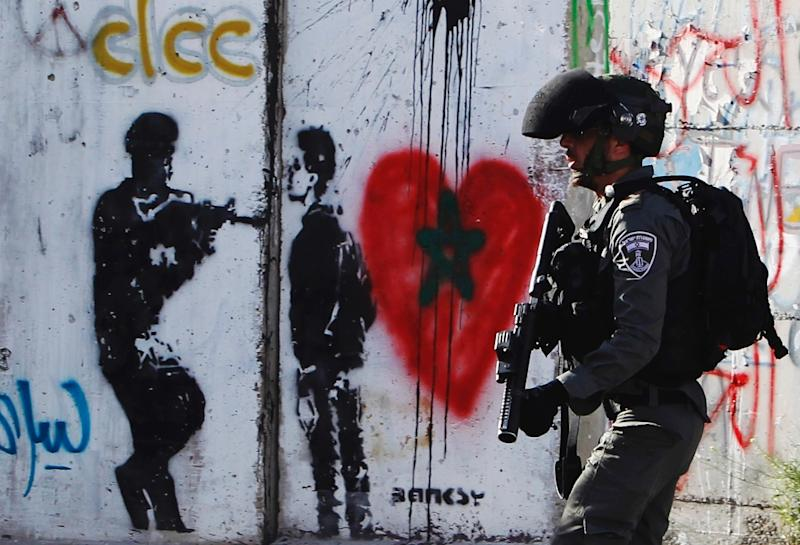 US President Donald Trump's visit to the West Bank city of Bethlehem may be contingent on security (AFP Photo/Musa AL SHAER)