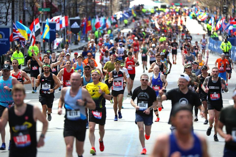 "<p>This probably isn't surprising, but don't bring <a href=""https://www.gettyimages.com/detail/news-photo/runners-head-to-the-finish-line-on-boylston-street-in-news-photo/1137428710?adppopup=true"" rel=""nofollow noopener"" target=""_blank"" data-ylk=""slk:fireworks"" class=""link rapid-noclick-resp"">fireworks</a> to a race for cheering or celebratory purposes.</p>"