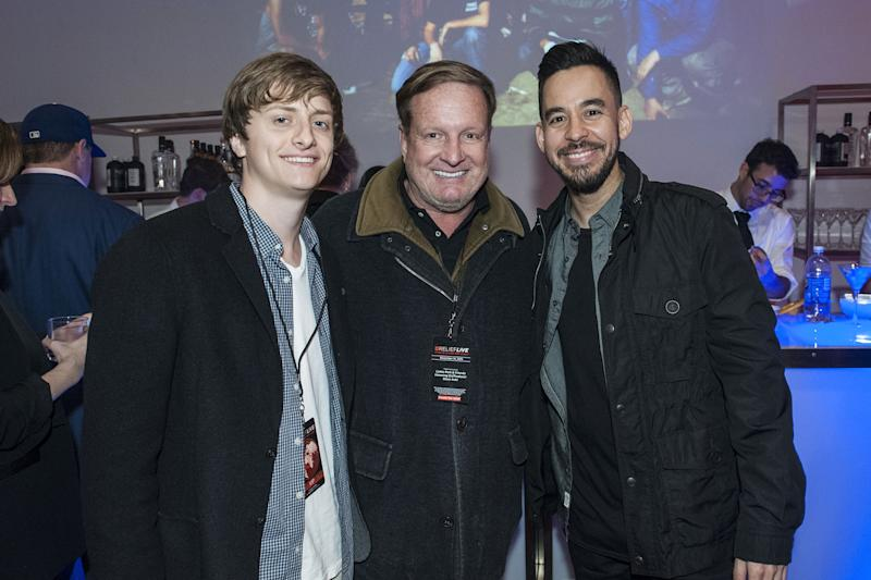 Andrew Burkle, Ron Burkle and Mike Shinoda.