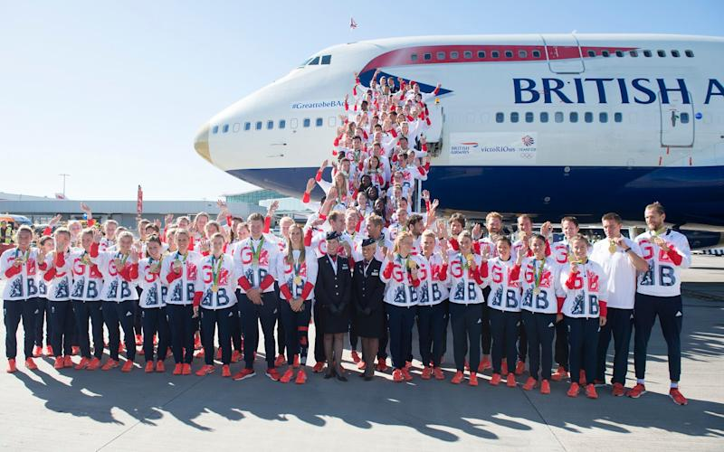 The successful Team GB squad arrives back in London to a heroes welcome - EDDIE MULHOLLAND