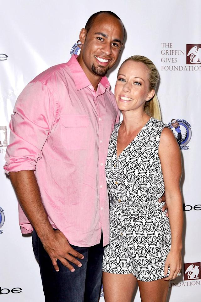 Happier times: Hank Baskett and Kendra Wilkinson in May 2013. (Photo: Jerod Harris/WireImage)