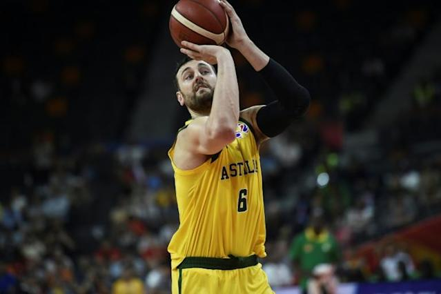 Australian basketballer Andrew Bogut faces the wrath of a hostile Beijing crowd because of provocative tweets about Chinese swimmer Sun Yang (AFP Photo/Ye Aung Thu )