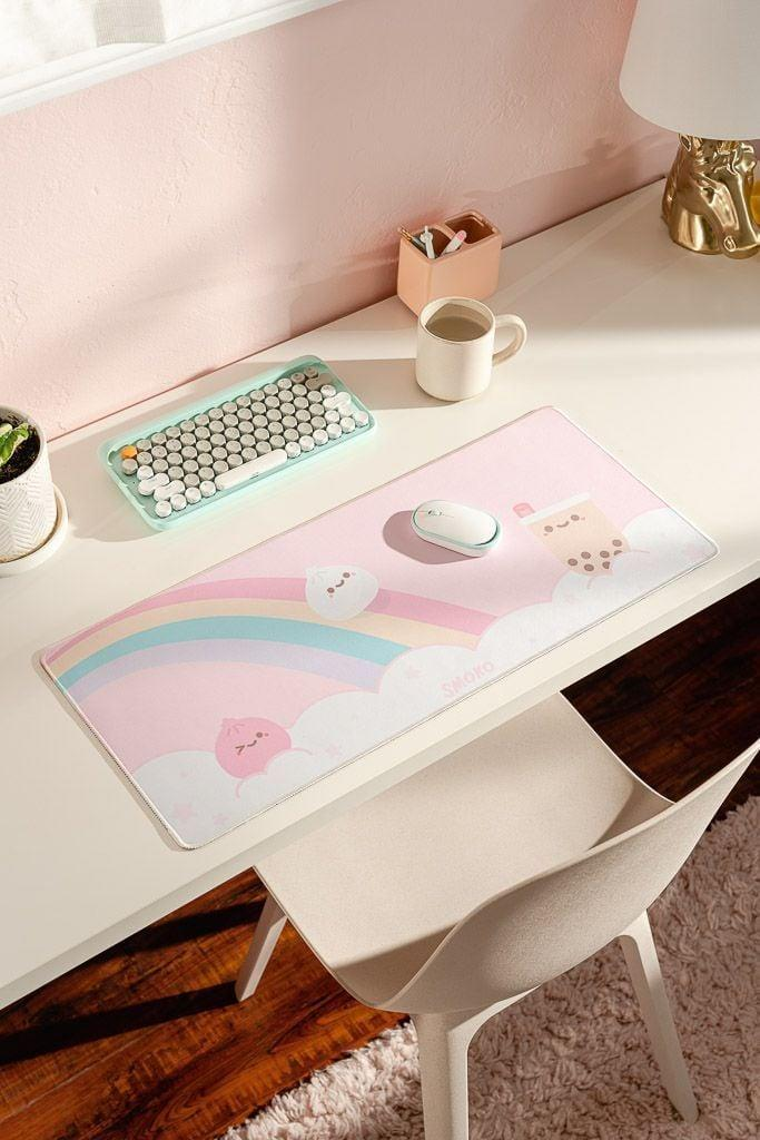 <p>They can create the perfect homework space with the <span>Smoko Kawaii Foodie Extended Mouse Pad</span> ($24).</p>