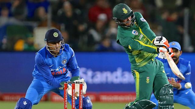 India's imposing total of 188-4 was not enough to wrap up the T20 series, South Africa getting home with eight balls to spare.
