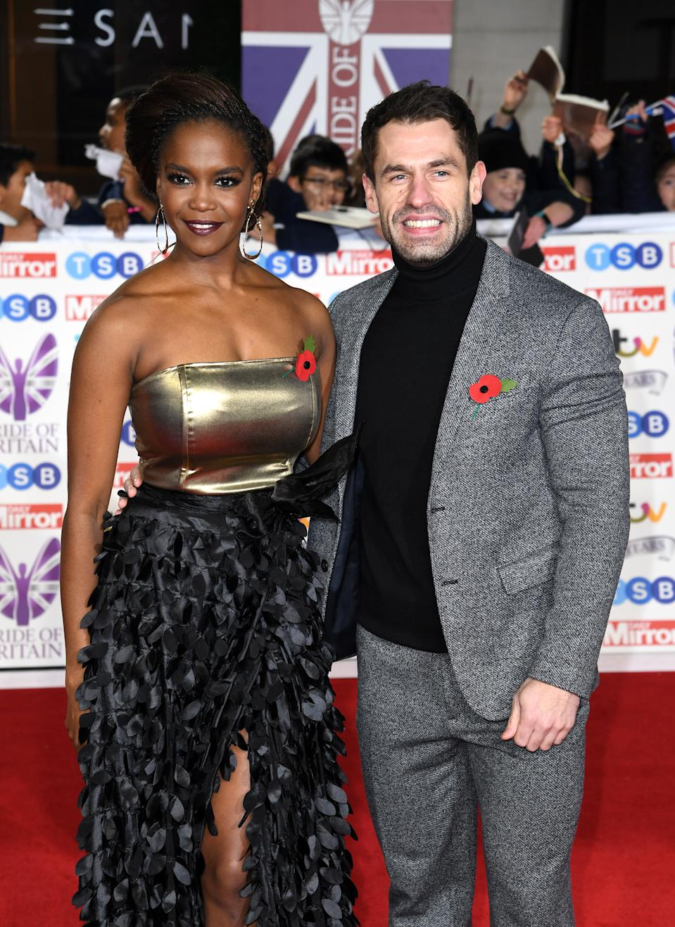 Oti Mabuse and Kelvin Fletcher attending the the 2019 Pride of Britain Awards, held at Grosvenor House in London. The Daily Mirror Pride of Britain Awards, in partnership with TSB, will broadcast on ITV on 5th November at 8pm. Picture credit should read: Doug Peters/EMPICS