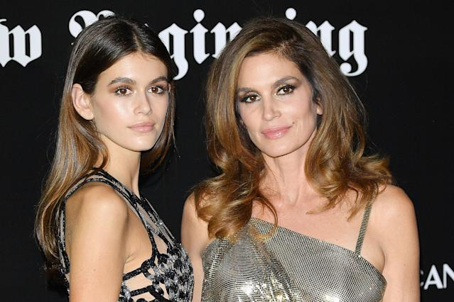 Kaia Gerber and Cindy Crawford. (Photo by Venturelli/WireImage)