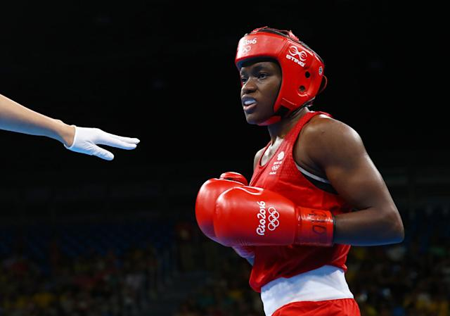 2016 Rio Olympics - Boxing - Final - Women's Fly (51kg) Final Bout 267 - Riocentro - Pavilion 6 - Rio de Janeiro, Brazil - 20/08/2016. Nicola Adams (GBR) of Britain competes. REUTERS/Peter Cziborra FOR EDITORIAL USE ONLY. NOT FOR SALE FOR MARKETING OR ADVERTISING CAMPAIGNS.