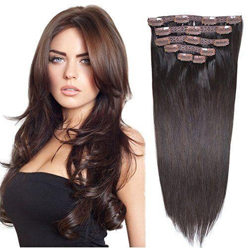 """<p><strong>BHF HAIR</strong></p><p>amazon.com</p><p><strong>$32.99</strong></p><p><a href=""""https://www.amazon.com/dp/B01IVJ9YIA?tag=syn-yahoo-20&ascsubtag=%5Bartid%7C2140.g.36477240%5Bsrc%7Cyahoo-us"""" rel=""""nofollow noopener"""" target=""""_blank"""" data-ylk=""""slk:Shop Now"""" class=""""link rapid-noclick-resp"""">Shop Now</a></p><p>Made with super fine strands of human hair, these clip-ins are perfect if you have thinner hair that you're wanting to add some volume to. It comes in a five-piece set, so you can easily wear the larger piece on a daily basis, then add in the other four for a more dramatic look on occasion.</p>"""