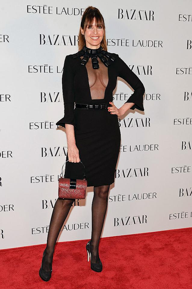 "And last but not least we have Bensimon's fellow supermodel, Carol Alt. Yes, she's flawless for 51, but, no, that doesn't mean she should be wearing this salacious, S&M-inspired dress to a star-studded soiree in NYC. Just sayin'. (5/2/2012)<br><br><a target=""_blank"" href=""http://bit.ly/lifeontheMlist"">Follow What Were They Thinking?! creator, Matt Whitfield, on Twitter!</a>"