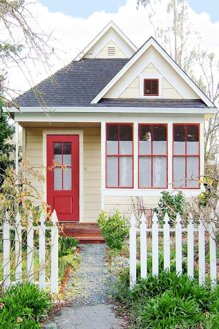 """<p>From $62,950<br></p><p>One of the first tiny house manufacturers, <a href=""""https://go.redirectingat.com?id=74968X1596630&url=http%3A%2F%2Fwww.tumbleweedhouses.com%2F&sref=https%3A%2F%2Fwww.oprahdaily.com%2Flife%2Fg35047961%2Ftiny-house%2F"""" rel=""""nofollow noopener"""" target=""""_blank"""" data-ylk=""""slk:Tumbleweed Tiny House Company"""" class=""""link rapid-noclick-resp"""">Tumbleweed Tiny House Company</a> now offers travel trailers and prefab cottages starting at 117 square feet. The model pictured here features a bump-out in the front that can be used as a sitting or sleeping area.</p><p><a class=""""link rapid-noclick-resp"""" href=""""https://go.redirectingat.com?id=74968X1596630&url=https%3A%2F%2Fwww.tumbleweedhouses.com%2Fpages%2Fcottages%2F&sref=https%3A%2F%2Fwww.oprahdaily.com%2Flife%2Fg35047961%2Ftiny-house%2F"""" rel=""""nofollow noopener"""" target=""""_blank"""" data-ylk=""""slk:SHOP NOW"""">SHOP NOW</a></p>"""