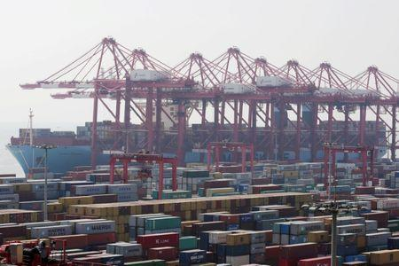 FILE PHOTO: Container ship is seen at the Yangshan Deep Water Port, part of the Shanghai Free Trade Zone, in Shanghai, China September 24, 2016. REUTERS/Aly Song/File Photo