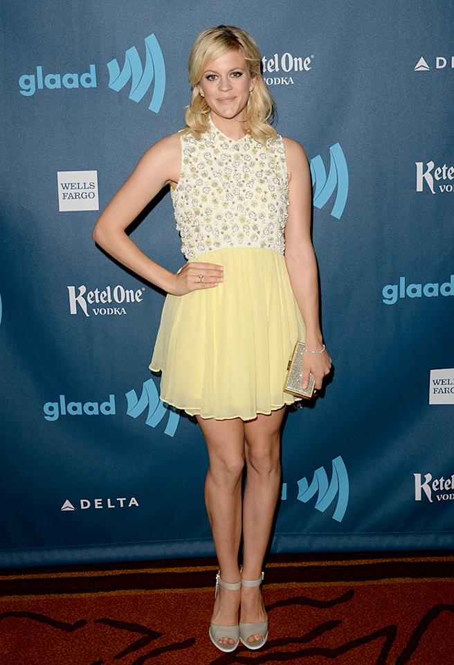 LOS ANGELES, CA - APRIL 20:  Actress Georgia King arrives at the 24th Annual GLAAD Media Awards presented by Ketel One and Wells Fargo at JW Marriott Los Angeles at L.A. LIVE on April 20, 2013 in Los Angeles, California.  (Photo by Jason Merritt/Getty Images for GLAAD)