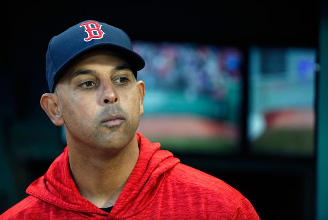 "<a class=""link rapid-noclick-resp"" href=""/mlb/teams/bos"" data-ylk=""slk:Red Sox"">Red Sox</a> manager Alex Cora took issue with President Trump's comments about Puerto Rico. (AP Photo)"
