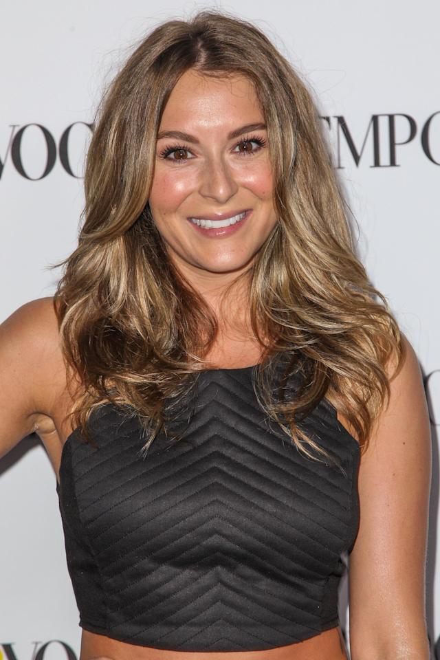 "Alexa PenaVega poked fun at her ""great parenting"" skills in a photo posted to Facebook and Instagram. (Photo by Paul A. Hebert/Invision/AP)"