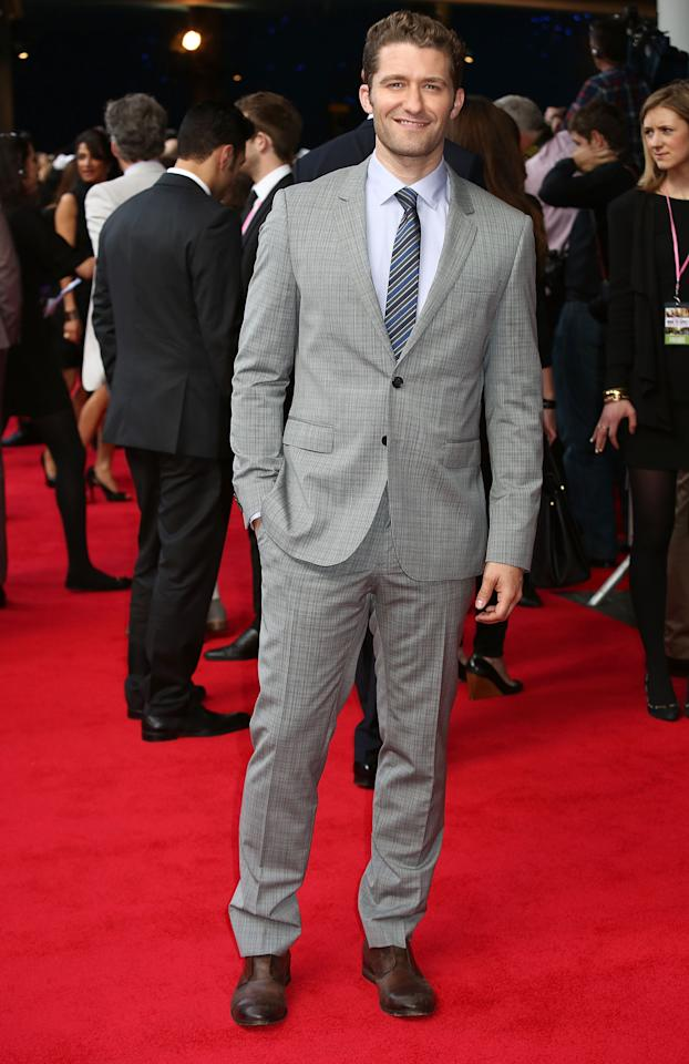 LONDON, ENGLAND - MAY 22:  Matthew Morrison attends the UK film premiere of 'What To Expect When You're Expecting' at BFI IMAX on May 22, 2012 in London, England.  (Photo by Tim Whitby/Getty Images)