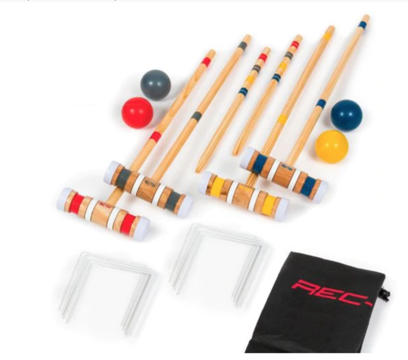 Eastpoint Good 4-Player Croquet Set. Image via Canadian Tire.