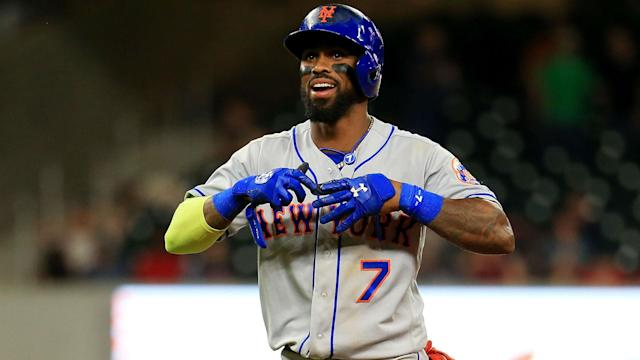 The Mets are bringing back Jose Reyes on a one-year contract in a utility role.