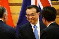 Chinese Premier Li Keqiang at the Great Hall of the People in Beijing