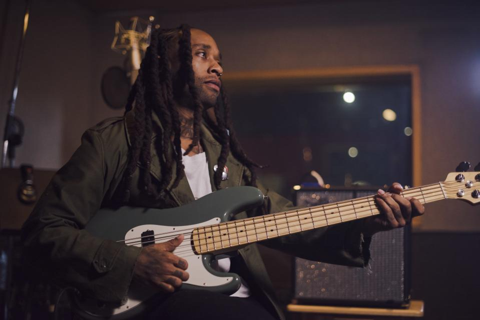 Ty Dolla $ign, born in 1985, players a Fender American Professional Precision Bass. (Picture: Fender)
