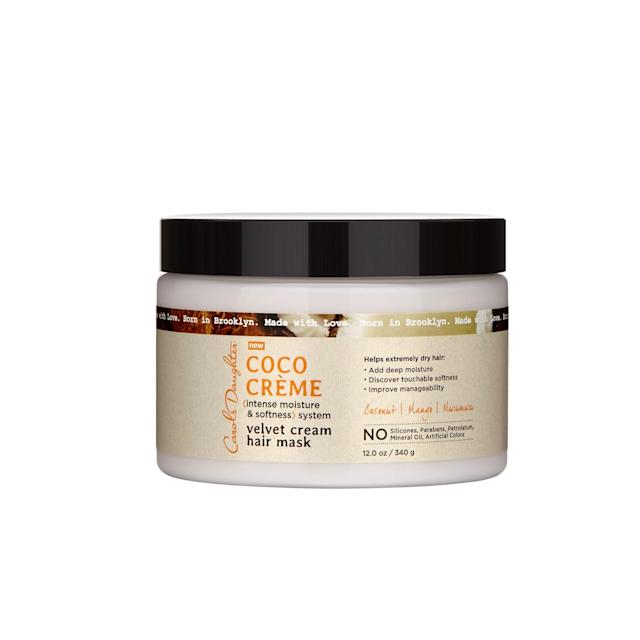"<p>We can always rely on the hair recipes crafted by Carol's Daughter founder Lisa Price. For 25 years, she's blessed curly-haired individuals with an array of super-conditioning products, like this hair mask that's free of parabens, sulfates, mineral oil, and petrolatum and packed with coconut oil, mango seed butter, glycerin, and vitamin E. $14, <a href=""https://www.carolsdaughter.com/coco-creme-velvet-cream-hair-mask/820645002586.html"" rel=""nofollow noopener"" target=""_blank"" data-ylk=""slk:carolsdaughter.com"" class=""link rapid-noclick-resp"">carolsdaughter.com</a> (Photo: Courtesy of Carol's Daughter) </p>"