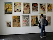 The exhibition is replete with images of turbaned men, flying carpets, snake charmers and belly dancers