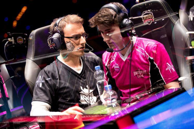 Perkz and Exileh faced off in the 2017 EU LCS Spring final (lolesports)