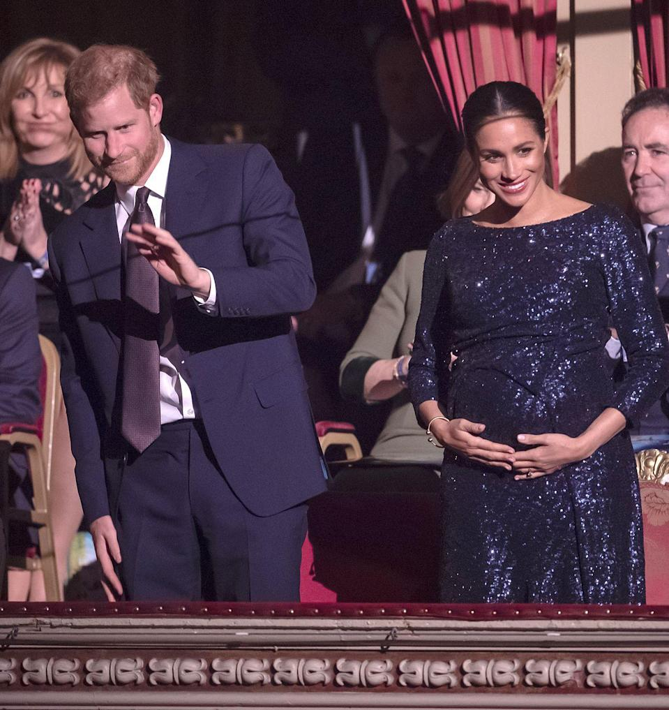 <p>The Duke and Duchess glammed up for a performance of Cirque du Soleil's 'TOTEM' show at Royal Albert Hall to benefit Sentebale in January 2019. </p>