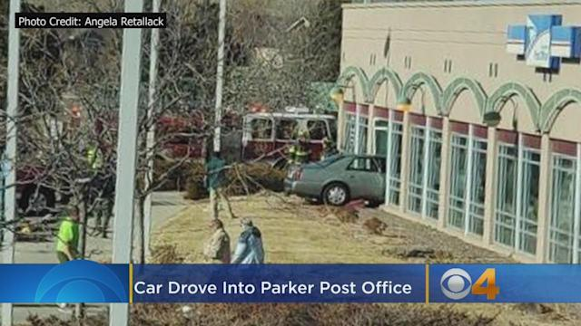 No One Hurt As Car Plows Into Post Office In Parker