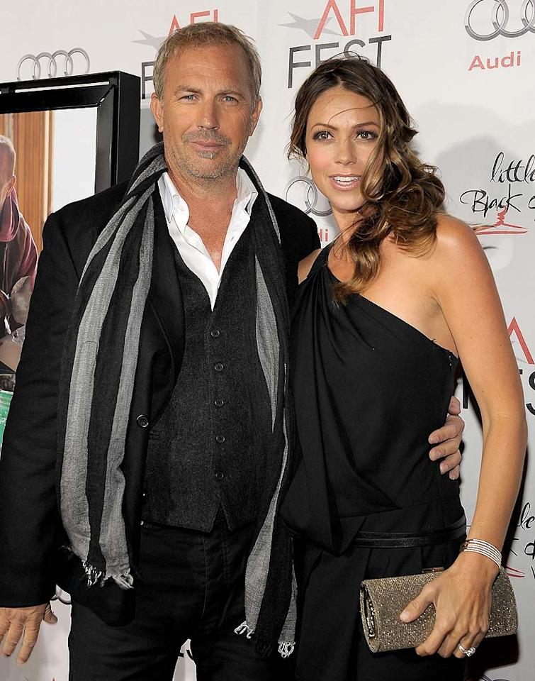 "Kevin Costner became a father for the seventh time when his wife Christine Baumgartner gave birth to their third child together, Grace Avery. Grace's big brothers and sisters are Hayes Logan, Cayden Wyatt, Liam, Joe, Lily, and Annie. Charley Gallay/<a href=""http://www.wireimage.com"" target=""new"">WireImage.com</a> - November 10, 2010"