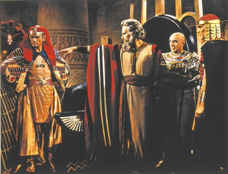 """Cecil B. DeMille's 1956 """"The Ten Commandments"""" with Charlton Heston and Yul Brenner is showing in Los Angeles area theaters"""