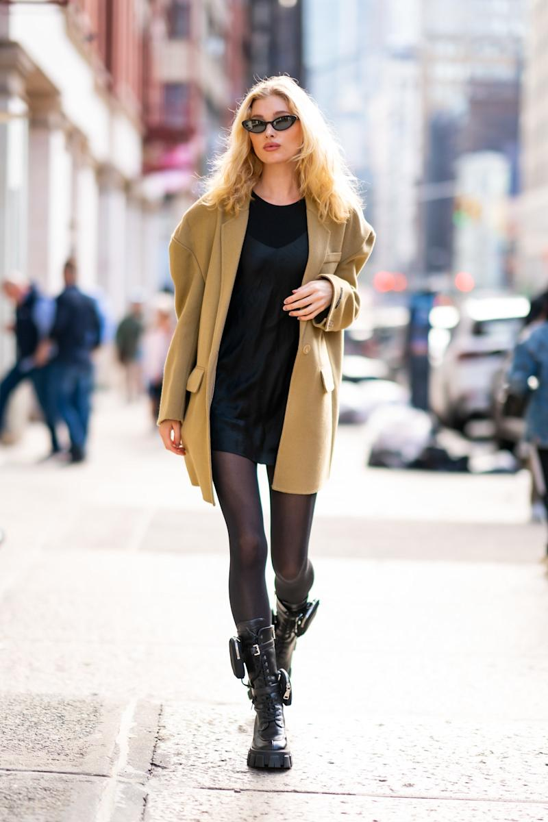 NEW YORK, NEW YORK - OCTOBER 13: Elsa Hosk is seen in SoHo on October 13, 2019 in New York City. (Photo by Gotham/GC Images)