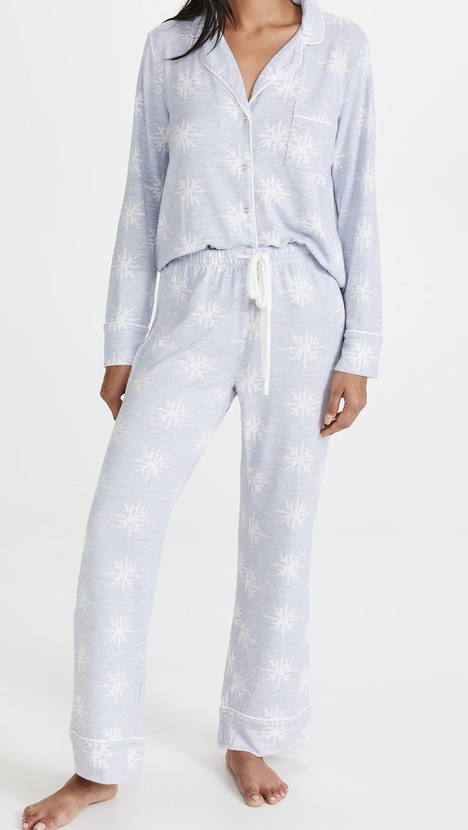<p>Winter is coming. We know, we know, but get ready for cozy season with this cute <span>Splendid Pillow Soft PJ Set</span> ($88).</p>