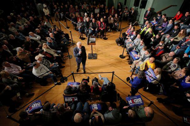 PHOTO: Democratic presidential candidate Joe Biden speaks during a campaign town hall meeting in Exeter, N.H., Dec. 30, 2019. (Brian Snyder/Reuters, FILE)