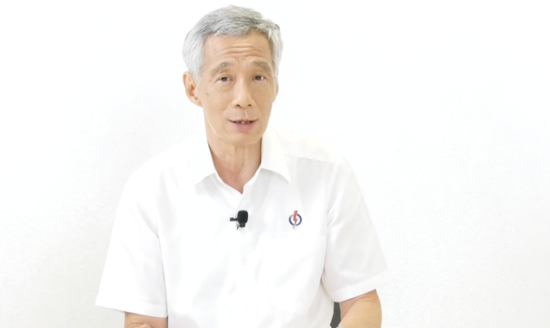 PM Lee during a GE2020 roundup streamed live on People's Action Party's Facebook page on the night of 8 July, 2020. (SCREENCAP: PAP/Facebook)