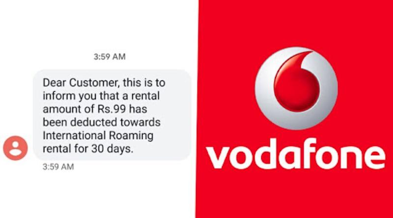 Vodafone Deducts Rs 99 From Customers' Accounts as 'International Roaming', Says 'It Was a Technical Error, Money Will be Credited' as Twitterati Complain