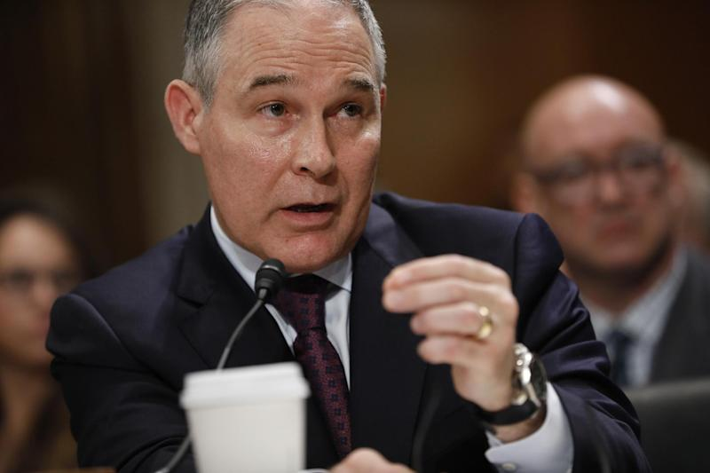 New EPA chief Scott Pruitt has repeatedly sued the environmental body to stop it regulating pollution, and denied basic tenets of climate change science: Aaron P. Bernstein/Getty Images