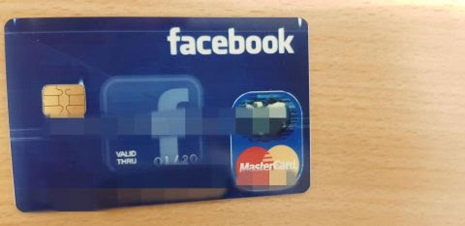 "Police said the latest version of the scam involves a Facebook branded ""credit card"". Photo: Queensland Police"