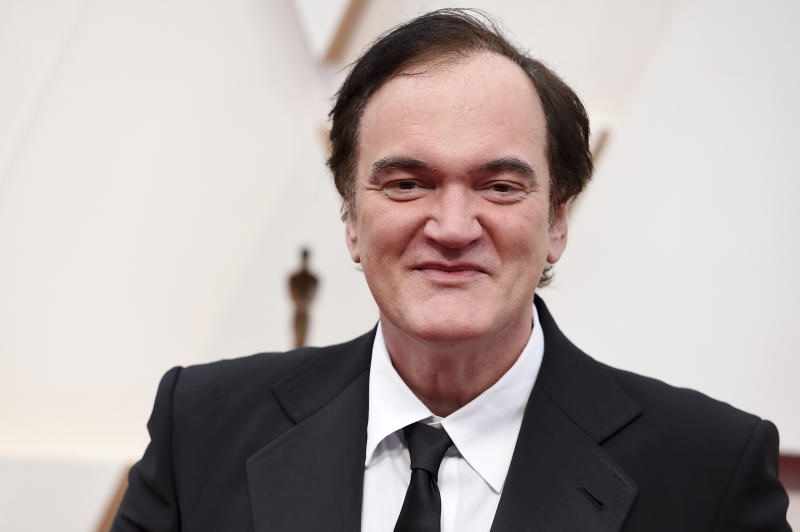 Quentin Tarantino arrives at the Oscars on Sunday, Feb. 9, 2020, at the Dolby Theatre in Los Angeles. (Photo by Jordan Strauss/Invision/AP)