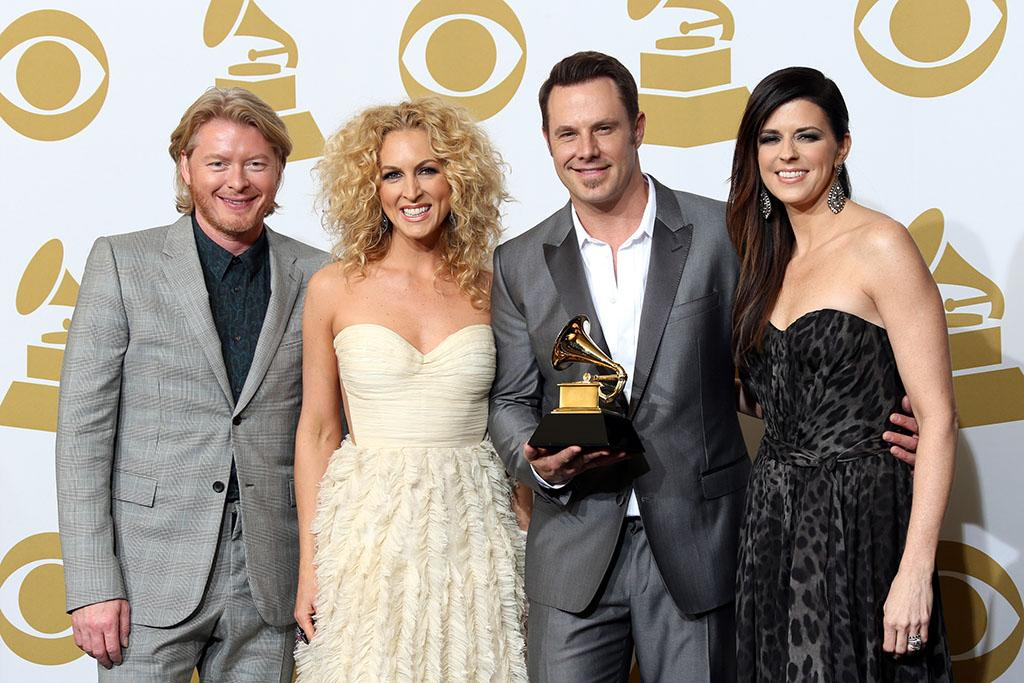 "Phillip Sweet, Kimberly Schlapman, Jimi Westbrook and Karen Fairchild, winner Best Country Duo/Group Performance for ""Pontoon"",  pose in the press room at the 55th Annual GRAMMY Awards at Staples Center on February 10, 2013 in Los Angeles, California."